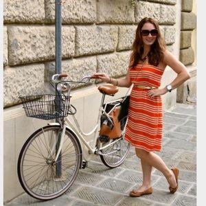 J. Crew Cami Orange Stripe Dress